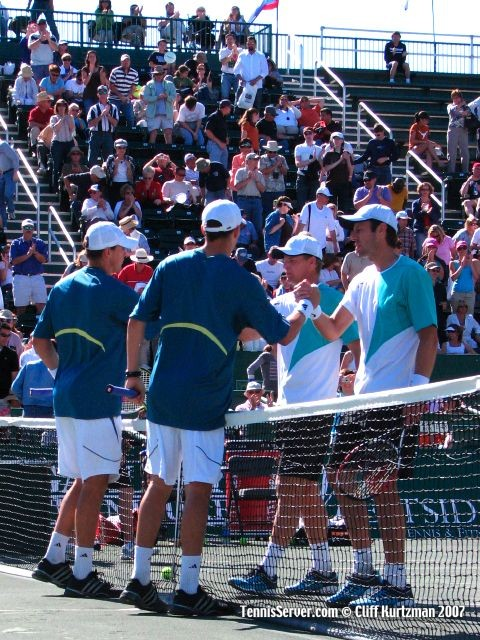 Tennis - Mike Bryan - Bob Bryan - Mark Knowles - Daniel Nestor