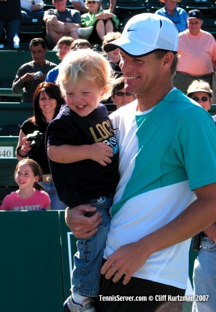 Tennis - Mark Knowles and son