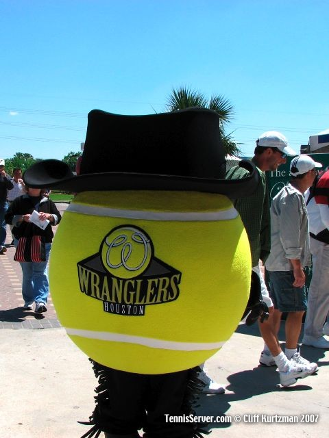 Tennis - Houston Wranglers Giant Tennis Ball Mascot