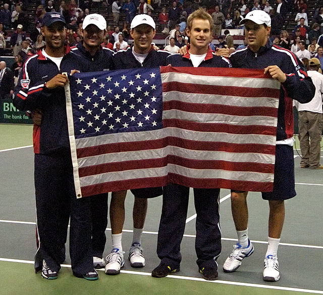 Tennis - Mike Bryan - Bob Bryan - Andy Roddick - Mardy Fish - James Blake - US Flag
