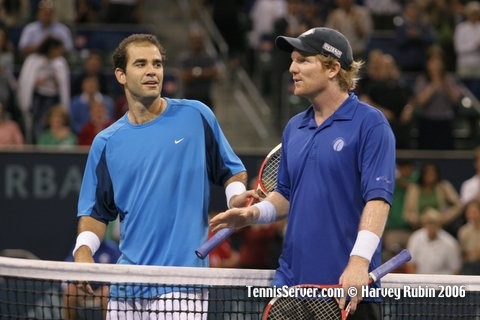 Tennis - Pete Sampras - Jim Courier