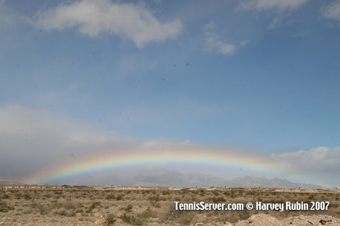 Tennis - Rainbow on Rainbow Boulevard in Las Vegas after rain