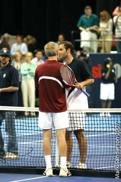 Tennis - Pete Sampras - John McEnroe