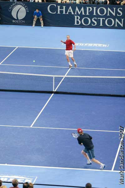 Tennis - John McEnroe - Jim Courier