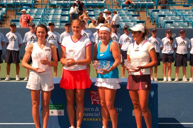 Tennis - Alina Jidkova, Tatiana Poutchek, Bethanie Mattek and Sania Mirza