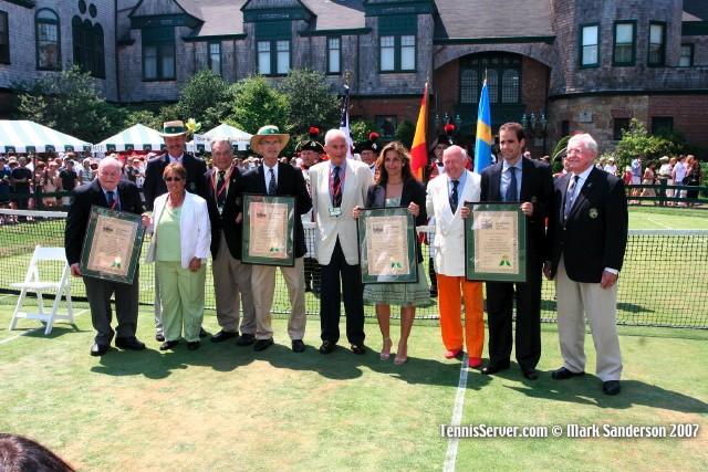 Tennis - Sven Davidson - Pete Sampras - Arantxa Sanchez-Vicario - Russ Adams - Bud Collins