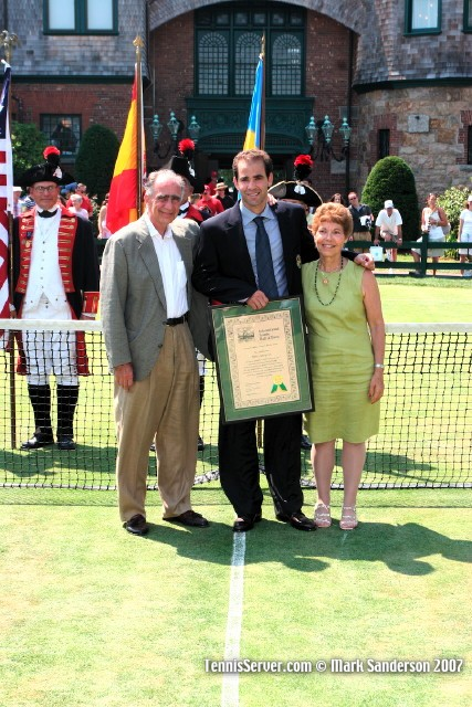 Tennis - Pete Sampras and Parents