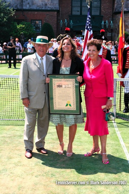 Tennis - Arantxa Sanchez-Vicario and Parents