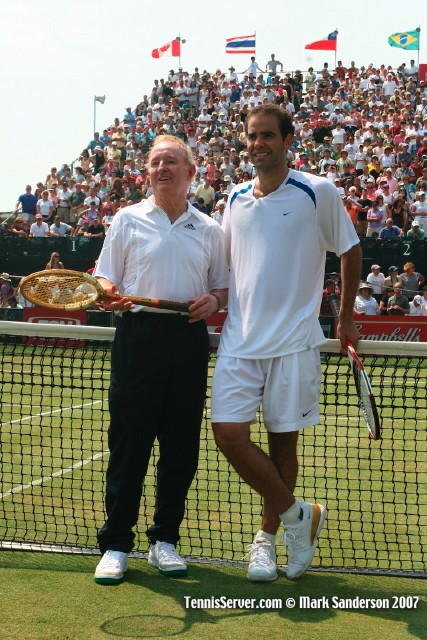 Tennis - Pete Sampras and Rod Laver.
