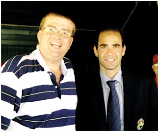 Vince Barr and Pete Sampras