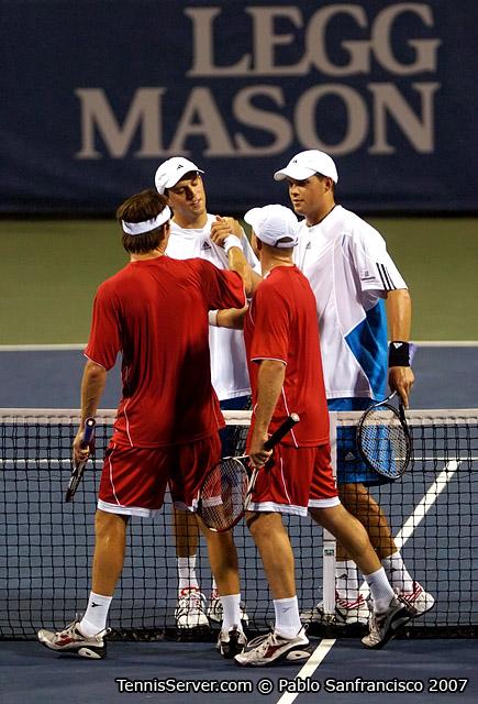 Tennis - Paul Hanley - Kevin Ullyett  - Mike Bryan - Bob Bryan
