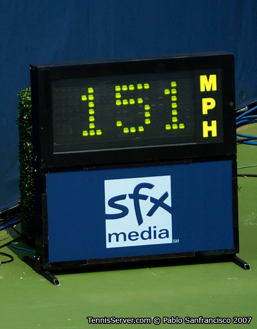 Tennis - Andy Roddick's Serve Clocked at 151 mph