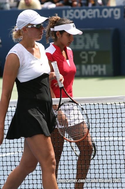 Tennis - Sania Mirza - Kaia Kanepi