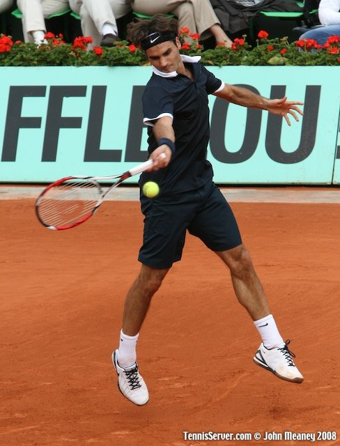 Roger Federer at 2008 French Open Tennis