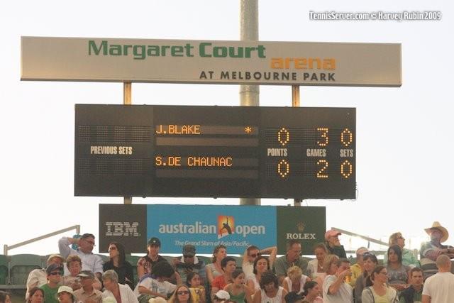 Tennis - Australian Open Scoreboard