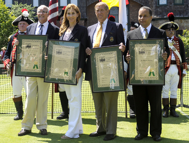 Tennis - Andres Gimeno - Donald Dell - Monica Seles - Lange Johnson