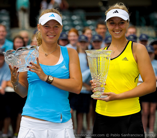 Photo of Sabine Lisicki & her friend tennis player  Caroline Wozniacki -