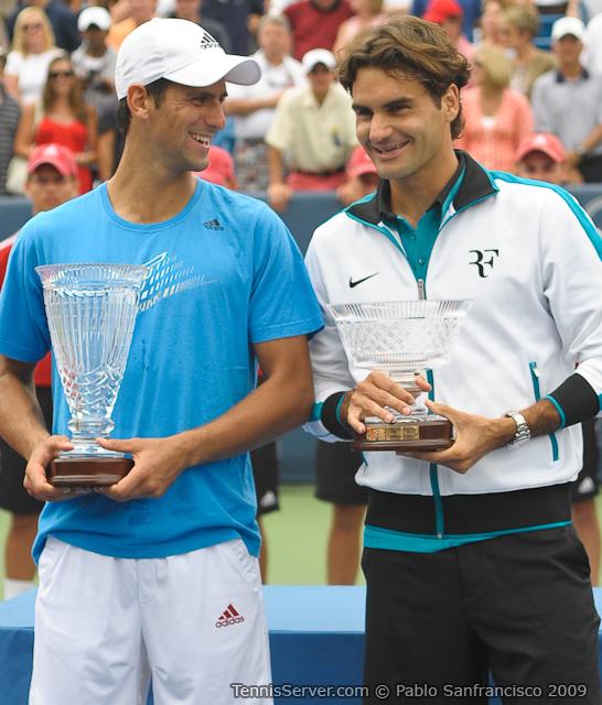 Tennis - Novak Djokovic & Roger Federer