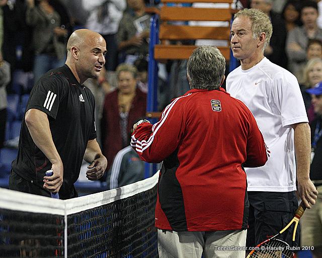 John McEnroe Andre Agassi Tennis