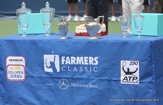 Doubles Finals Trophies Farmers Classic Tennis