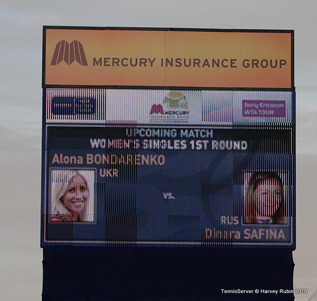 Dinara Safina, Alona Bondarenko Mercury Insurance Open Tennis