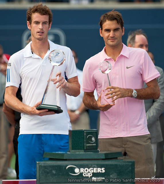 Andy Murray Roger Federer Rogers Cup Toronto Tennis