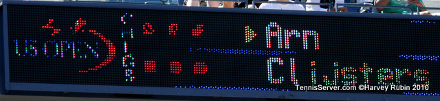 Scoreboard Arn Clijsters US Open 2010 Tennis