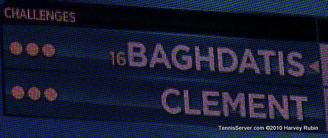 Baghdatis Clement Scoreboard US Open 2010 Tennis
