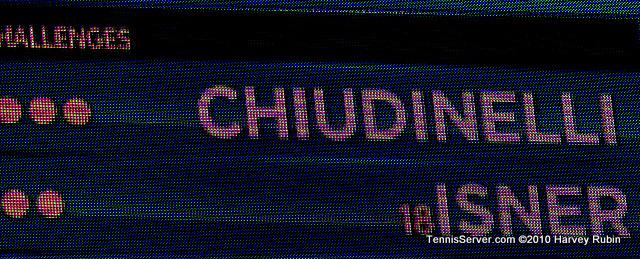 Chiudinelli Isner Scoreboard US Open 2010 Tennis