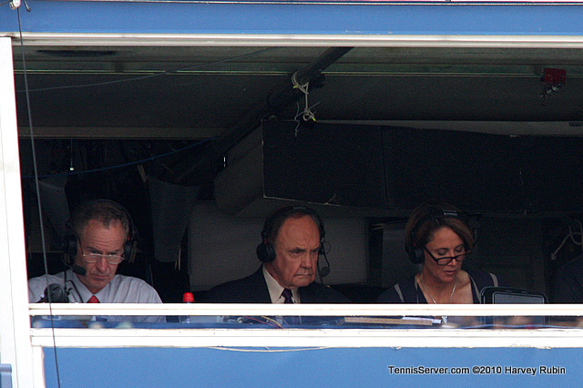 John McEnroe, Mary Carillo, Dick Enberg US Open 2010 Tennis