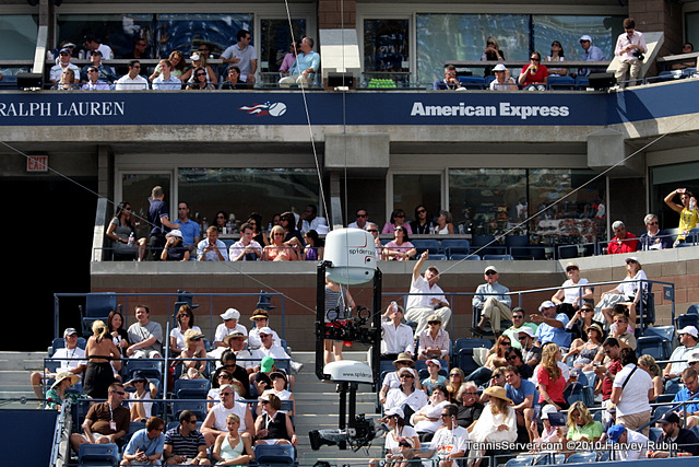 Spidercam US Open 2010 Tennis