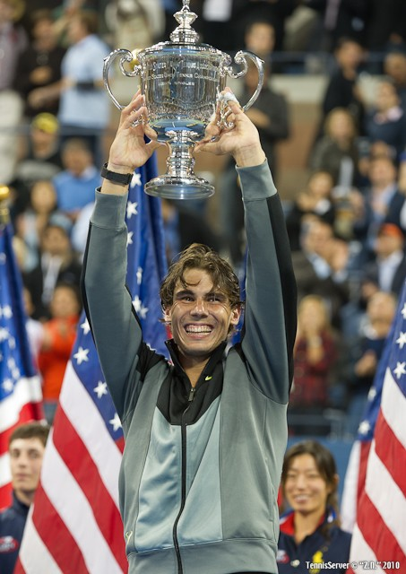 Rafael Nadal US Open Trophy Final 2010 Tennis