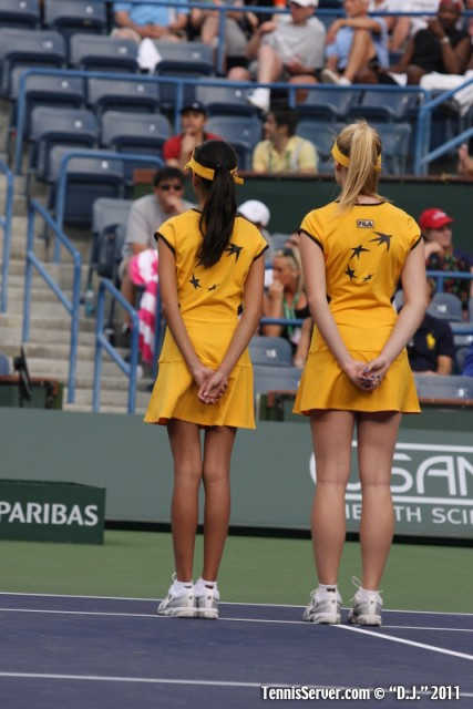 Ball Girls 2011 BNP Paribas Open Tennis