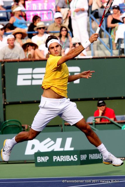 Roger Federer 2011 BNP Paribas Open Tennis