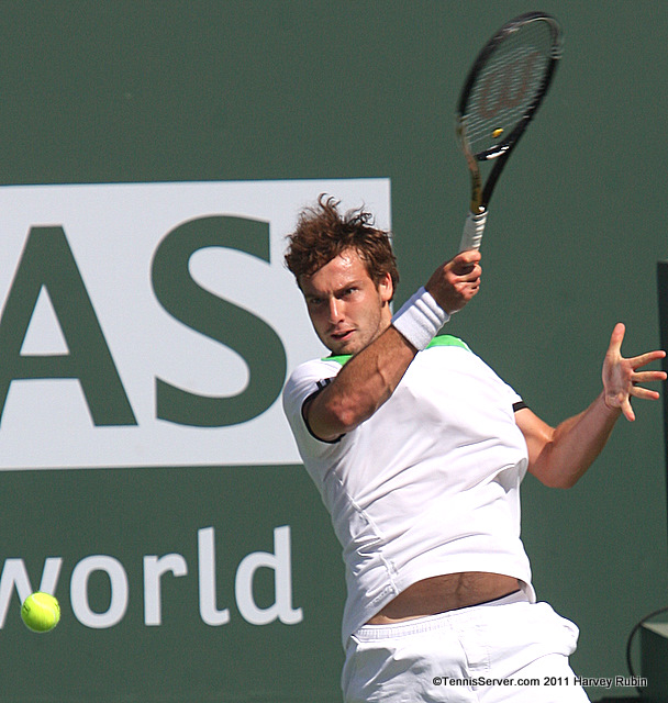 Ernests Gulbis 2011 BNP Paribas Open Tennis