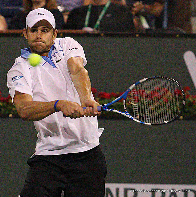 Andy Roddick 2011 BNP Paribas Open Tennis