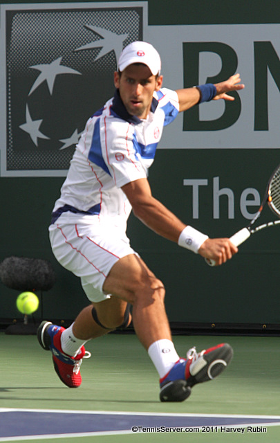 Novak Djokovic 2011 BNP Paribas Open Tennis