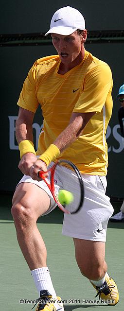 Tomas Berdych 2011 BNP Paribas Open Tennis