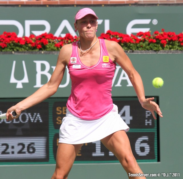 Yanina Wickmayer 2011 BNP Paribas Open Tennis