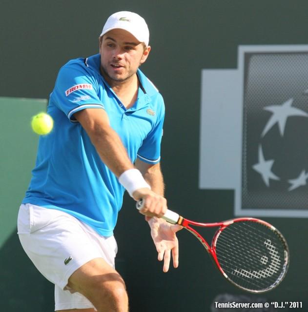 Stanislas Wawrinka 2011 BNP Paribas Open Tennis