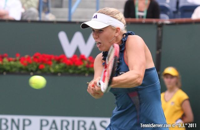 Caroline Wozniacki 2011 BNP Paribas Open Tennis