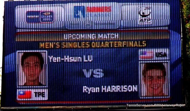 Scoreboard Ryan Harrison Yen-Hsun Lu 2011 Farmers Classic Los Angeles Tennis
