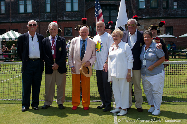 Bud Collins, Andre Agassi, Peachy Kellmeyer Tennis Hall of Fame Induction