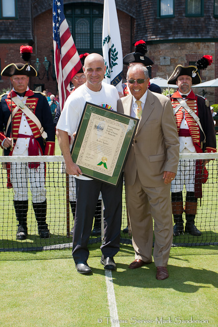 Andre Agassi, Nick Bollettieri Tennis Hall of Fame Induction