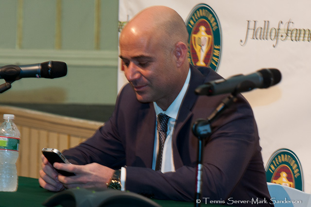 Andre Agassi Tennis Hall of Fame Induction