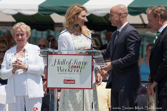 Peachy Kellmeyer, Steffi Graf, Andre Agassi Tennis Hall of Fame Induction