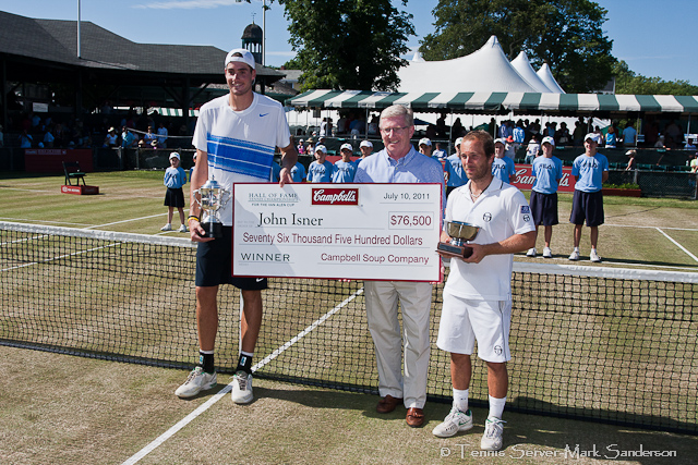John Isner Olivier Rochus Campbell's Hall of Fame Tennis Championships