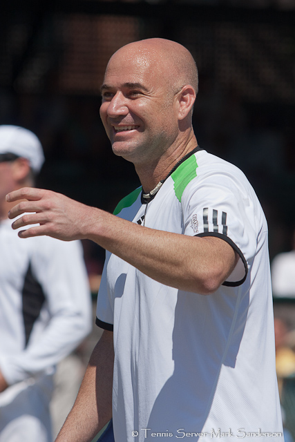 Andre Agassi Tennis Hall of Fame Exhibition Match