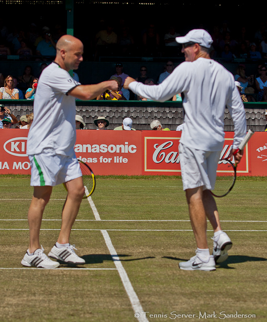 Andre Agassi Brad Gilbert Tennis Hall of Fame Exhibition Match