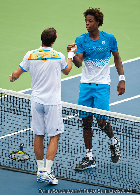 Radek Stepanek Gael Monfils 2011 Legg Mason Tennis Classic Washington DC